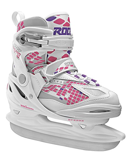 Roces Kinder Moody Ice Girl Schlittschuh, White-Pink Lightning, 36-40
