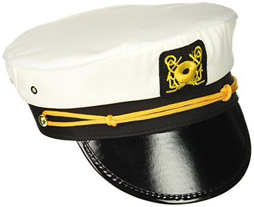 Generic Rhode Island Novelty Erwachsene Yacht Captain Hat Kostüm Accessory-one Gr. (Kostüm Captain Amazing)