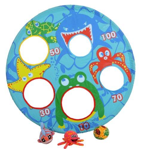 tolles Wasserspielzeug für den Pool Zielscheibe + 3 Wasserbälle
