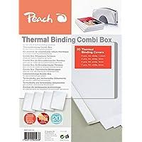 Peach PBT100-14 - Pack de 20 carpetas variadas para encuadernación térmica, color blanco