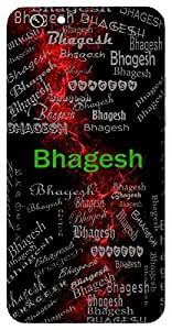 Bhagesh (Lord Of Richness) Name & Sign Printed All over customize & Personalized!! Protective back cover for your Smart Phone : Oppo NEO 7