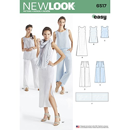 Simplicity New Look Pattern Women\'s Dress/Tunic/Top/Pants/Scarf ...