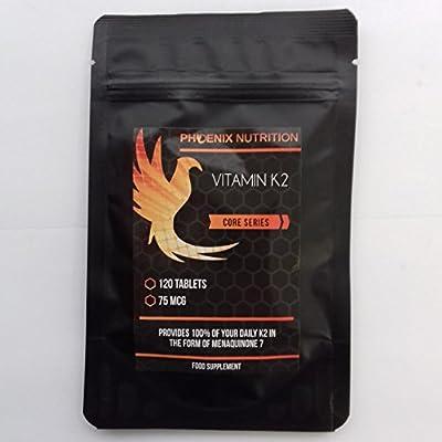 Vitamin K2 (Mk7), 75mcg x 60 Tablets - by Phoenix Nutrition from Phoenix Nutrition
