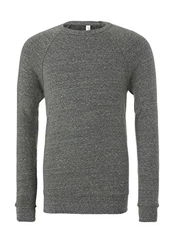 Bella+Canvas Damen Herren Triblend Sponge Fleece Crew Neck Sweatshirt 3901 Grey Triblend L (Erwachsenen-raglan-langarm)