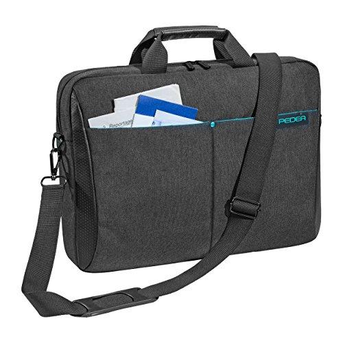"""PEDEA \""""Lifestyle\"""" Notebooktasche für 15,6 Zoll (39,6cm) mit Zubehörfach/Schultergurt, schwarz"""