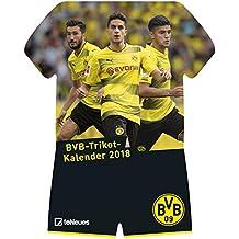 BVB Kalender 2018 - Borussia Dortmund Kalender, BVB Kalender, BVB 09, Trikotkalender, Fußballkalender - 34 x 41 cm