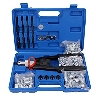 CCLIFE Pistola remachadora manual para tuercas remachables 150 tuercas M5 M6 M8 M10 M12