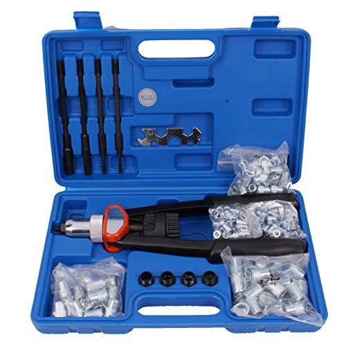 CCLIFE Coffret Pince à riveter - Kit pistolet à rivets - Pinces à rivets 10 pièces - Riveteuse - Pince à Riveter Manuelle