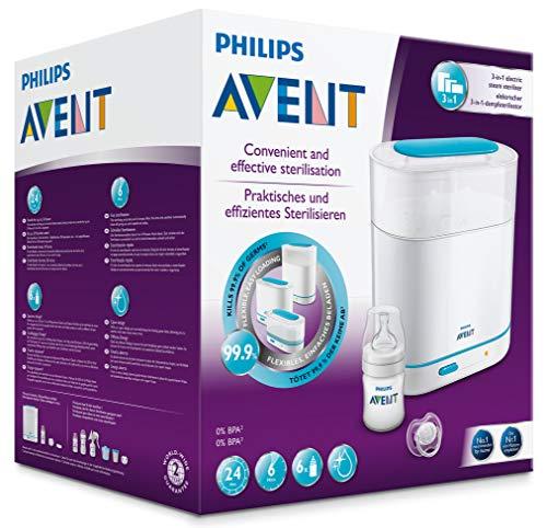 Philips Avent SCF285/02 Elektrischer 3-in-1 Dampfsterilisator, weiß/türkis - 6