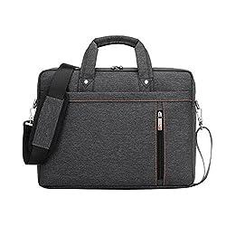 LOSORN ZPY 13-17 Zoll Laptop Tasche mit Schultergurt Aktentasche für Laptop/Notebook Computer/MacBook, Grau, 15 Zoll