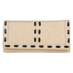 Aadhunik Libaas Stylish Trendy Clutch Handbag for Womens (Beige)