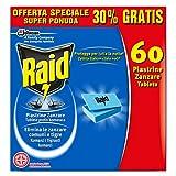 Raid Piastrine Zanzare Ricarica - 60 Pezzi