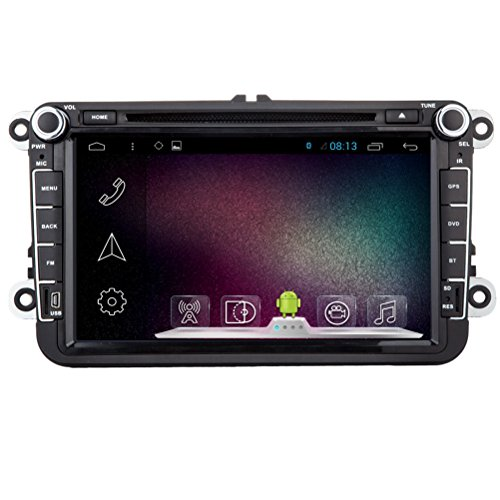 Generic 20,3cm 1024* 600auto DVD GPS Navigation Android 4.4.4per Volkswagen auto universale 2DIN autoradio WiFi Bluetooth radio R16A9CPU 1.6GHz DDR31g capacitivo Touch Screen 3G Car stereo audio rubrica RDS AUX DVR Mirror Link 16GB Quad Core