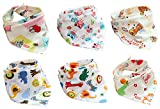 6pcs Brand New Pure Cotton 32*43cm Lonely infant Toddler Bandana Bib Neck Catch Feeding Bibs Dribble For Boys&Girls Baby Outdoor Daily Use