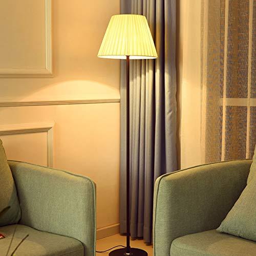 ÉCLAIRAGES DE PLANCHER ZXC YWXLight Lampadaire LED blanc chaud simple en tissu