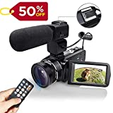 WiFI Camcorder Video Camera with External Microphone Full HD 1080P 30FPS 24MP 16X