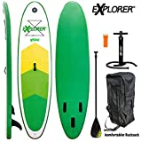 EXPLORER SUP RAIDER 300 x 75 x 10 cm Inflatable Isup aufblasbar Alu-Paddel Stand Up Paddle Board Set Pumpe Surfboard Aqua Paddelset