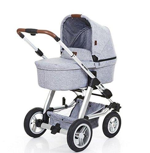 ABC Design Kombi-Kinderwagen Set Viper 4 - Komplettset, inkl. Baby-Tragewanne für Neugeborene, wird mit umsetzbarer Sportwagen-Sitzeinheit zum Buggy - Graphite Grey