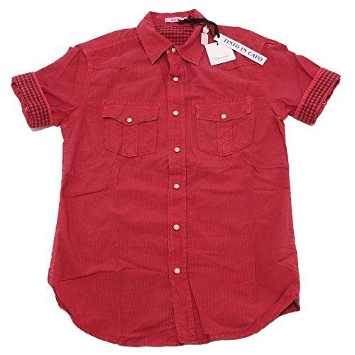 7228P camicia uomo rossa BERNA manica corta shirt men short sleeves [XXL]