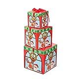 Cloud ROM Weihnachtsdeko Geschenkbox Groß Weihnachten Box mit Deckel Geschenkschachteln Geschenk Weihnachtsfenster-Verzierungen Anhänger Baumschmuck Weihnachten Deko Tür Fenster Home Deko (C)