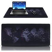 Alfombrillas de ratón,DaSinKo gaming mouse pad XXL(900 x 400mm),impermeable,base de caucho,Negro
