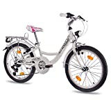 20' Zoll CITY BIKE KINDERRAD MÄDCHENFAHRRAD CHRISSON RELAXIA 2.0 mit 6 Gang SHIMANO StVZO weiss