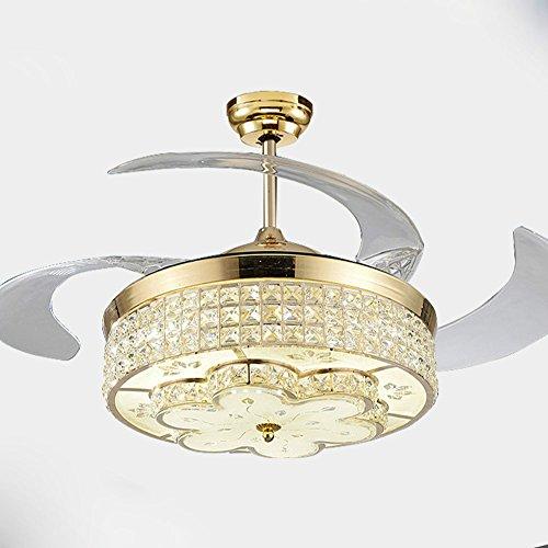 YFF@ILU modernen minimalistischen Led stealth Fan leuchtet, Haushalt Ventilator Kronleuchter, Wohnzimmer Schlafzimmer Esszimmer Deckenventilator Licht, B