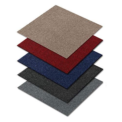 *Floori Teppichfliesen – 1m² – Farbe wählbar – Premiumklasse (2,6kg/m², antistatisch, Bitumen)*