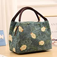 Deal Noon Reusable Stylish Handcrafted Lunch Box Insulated Lunch Bag For Men & Women Boy & Girl Meal Prep Lunch Tote Boxes (C