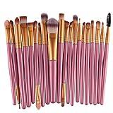20 Stücke Professionelle Make up Pinsel Sets FORH Damen Professional Wolle Haar Pinselset Anzüge für Foundation Eyebrow Eyeliner Valentine's Day Gift (Gold A)