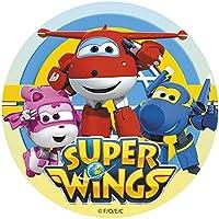 Super Wings - Decoración para tarta de azúcar comestible, redonda, 16 cm Producto con