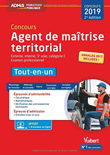 Concours Agent de matrise territorial Tout-en-un : Externe, interne, 3e voie, examen professionnel, catgorie C