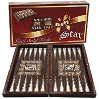 The 19 Silver Star Backgammon Turkish Premium Board Game Set