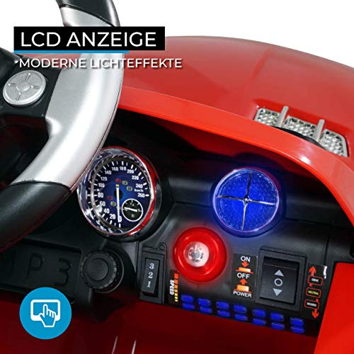 RC Auto kaufen Kinderauto Bild 5: Kinder Elektroauto Mercedes Lizenziert SLS AMG Original Lizenz Kinderauto Kinderfahrzeug Elektro Spielzeug für Kinder (Rot)*
