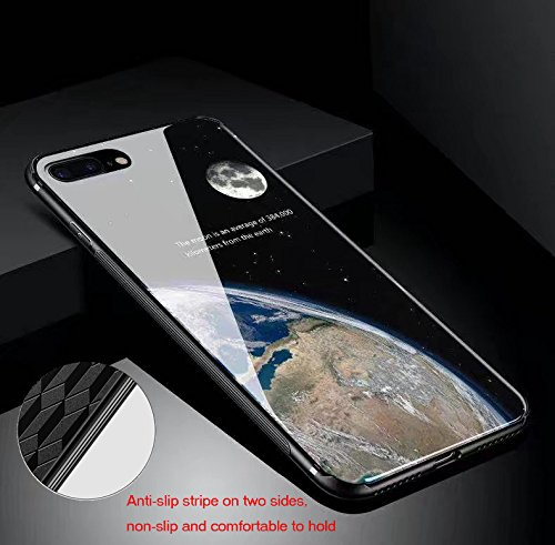 inShang iPhone 7 Plus,iPhone 8 Plus Hülle neuer Entwurf-ausgeglichenes Glas-Kasten mit 9H + super H?rte, starke Schlagfestigkeit, dünnes Case Cover iPhone 7 Plus,iPhone 8 Plus 2017 Unterstützt drahtlo 10