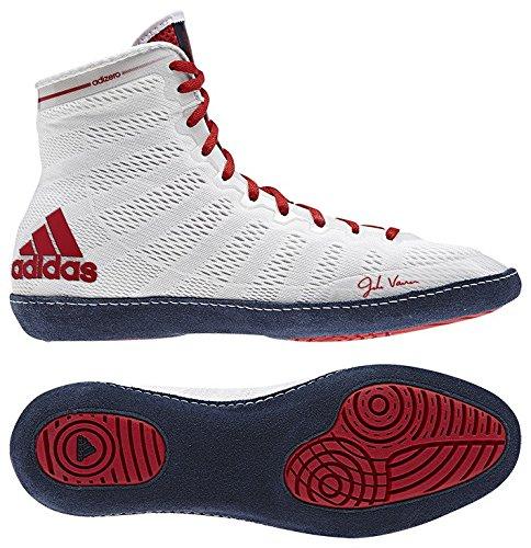 """Adidas """"adizero Wrestling 14"""" Ringerschuhe / Ringer Schuhe / Wrestlerschuhe / Boxerschuhe / FARBAUSWAHL /GRÖßENAUSWAHL (Weiß, 40)"""
