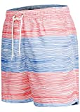 Occulto Badeshort Strips 2-tone-colours Blau/Rot S