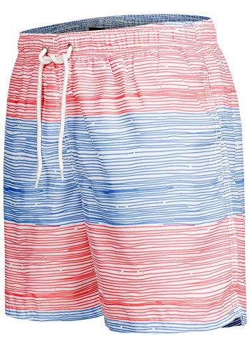 Occulto Badeshort Strips 2-tone-colours Blau/Rot XL