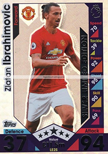 2016-17-match-attax-extra-zlatan-ibrahimovic-silver-limited-edition-card-le2s-man-utd