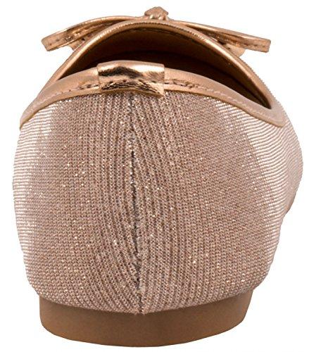 Elara - Scarpe da Ginnastica Basse Donna Champagne