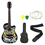 #9: Zabel ZBTR10 Acoustic Guitar with truss rod Combo with Bag, Strap, one pack strings and 3 Picks