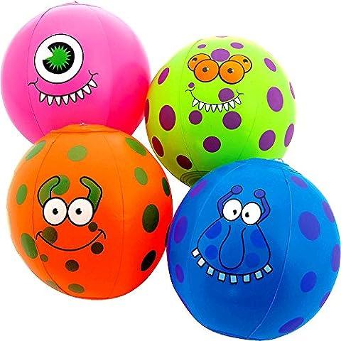 German Trendseller® - ballon de water gonflable ┃mini monstres de plage ┃beach ball┃ halloween┃ l'anniversaire d'enfant ┃idée cadeau