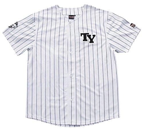 Bequemes Tysonz Baseball Jerseys Sport T-Shirt Trikot Herrenshirt Outdoor Shirt verschiedene Ausführungen (L, BBS30) (Armee Baseball Jersey)