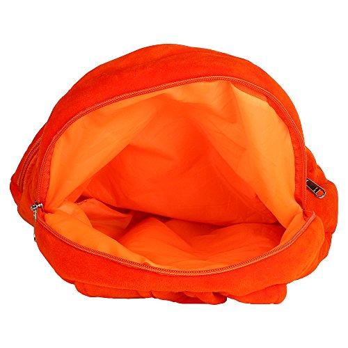 Monster Face kids School Bag Under 5 Years Kids Girls Boys Picnic Bag Birthday Gift 14 Inches -Orange Colour Size (L X B X H ) ( 25 x 7 x 35cms ) 5 Litre