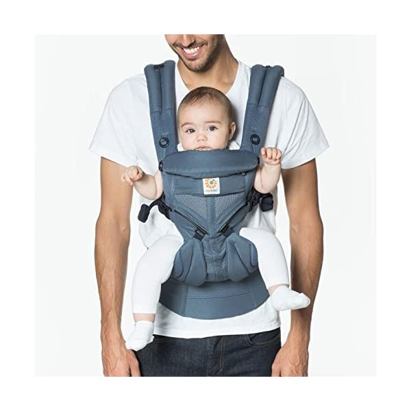 ErgoBaby Omni 360 Baby Carrier Mesh Oxford Blue Ergobaby Flexibility: Accommodates all carry positions: front facing parent, front facing out, hip, and back Adapts to baby's growth: Newborn to toddler (7-33 lbs / 3.2-15 kg), no infant insert needed Exceptional comfort: Longwear comfort with lumbar support waistbelt and extra cushioned shoulder straps 2