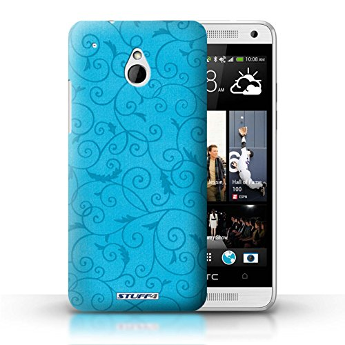 Kobalt® Imprimé Etui / Coque pour HTC One/1 Mini / Vert conception / Série Motif de la vigne Turquoise