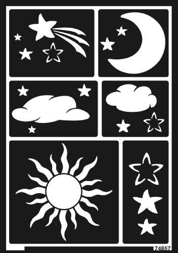 Home Design 74857 - Window Style Schablone Sonne, Mond und Sterne A5
