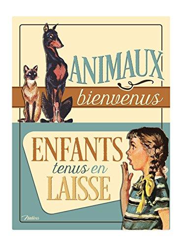 Natives 612240 Plaque Métal PM, Multicolore, 15 x 20 x 2 cm