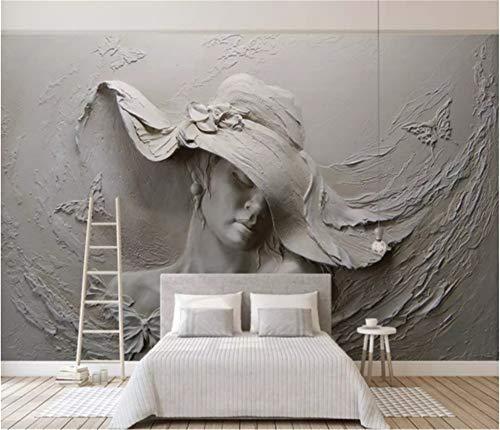 DXBH 3D mural grande escultura arcilla abstracta hermosa