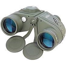 aomekie ao3002Ultimate 7x 50HD binoculares marinos militares con iluminado telémetro Brújula, BaK4prisma de porro flotante empañamiento nitrógeno fillfulled